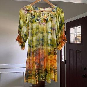 Mushka by Sienna Rose tunic, tie-dye pattern